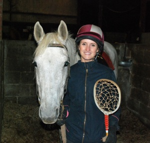Me with Fern, my mount for the evening