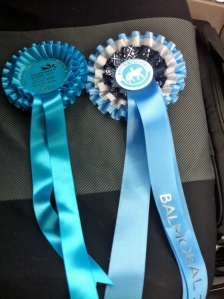 Our Balmoral rosettes! :)