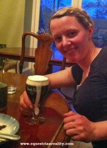 Dani with her Irish Coffee