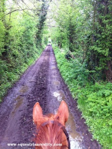 heading down the trails for our lesson
