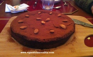 Home made chocolate and almond cake - this really hit the spot!
