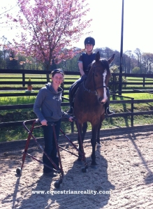 Helen put the little mare and I through our paces.