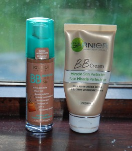 Left Borjois bronzing BB cream, right Garnier BB Cream (available in a variety of shades and finishes)